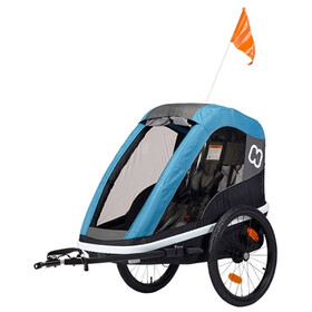 Hamax Avenida ONE Bike Trailer incl. Bicycle Arm & Stroller Wheel, petrol blue